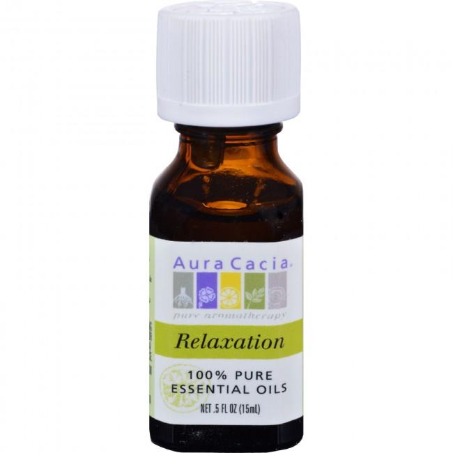 Aura Cacia Relaxation Essential Oil Blend 0 5 Fl Oz