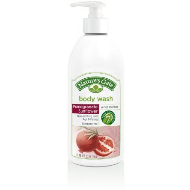 Natures Gate Body Wash Velvet Moisture Pomegranate
