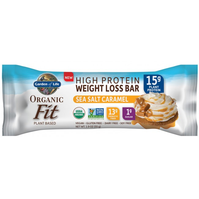 garden of life weight loss. Garden Of Life, RAW Organic Fit High Protein Weight Loss Bar 12 Bars Sea Salt Life I