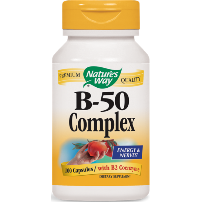 Natures Way, Vitamin B-50 Complex - 100 Capsules -The Natural