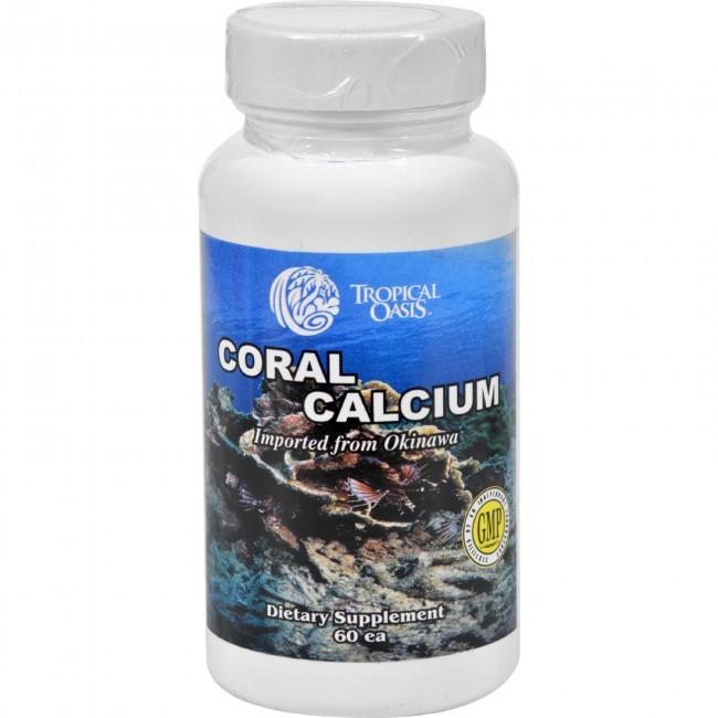 Tropical oasis coral calcium 60 capsules the natural