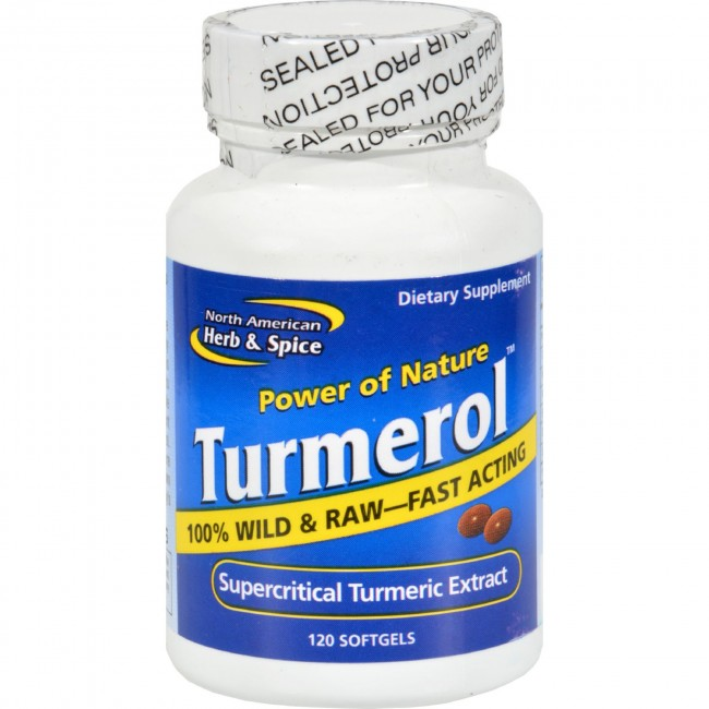 North American Herb And Spice Tumerol 120 Softgels The