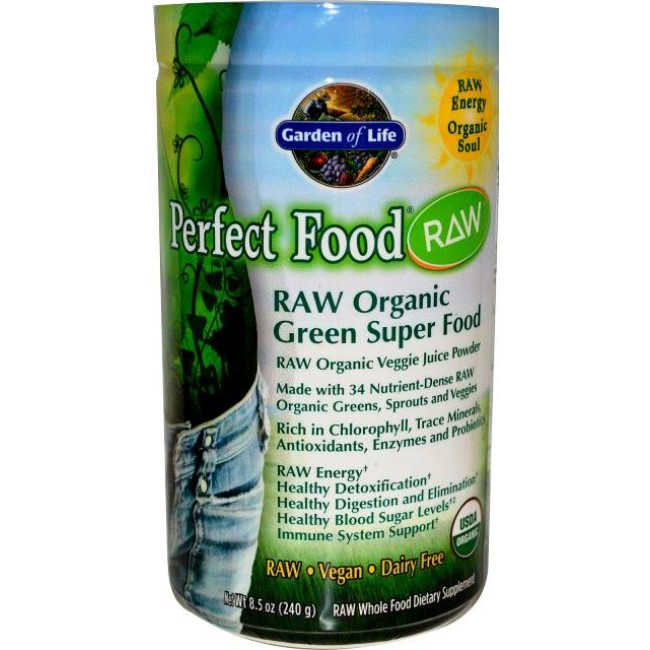 Garden of Life, Perfect Food RAW Organic 240g Powder -The Natural