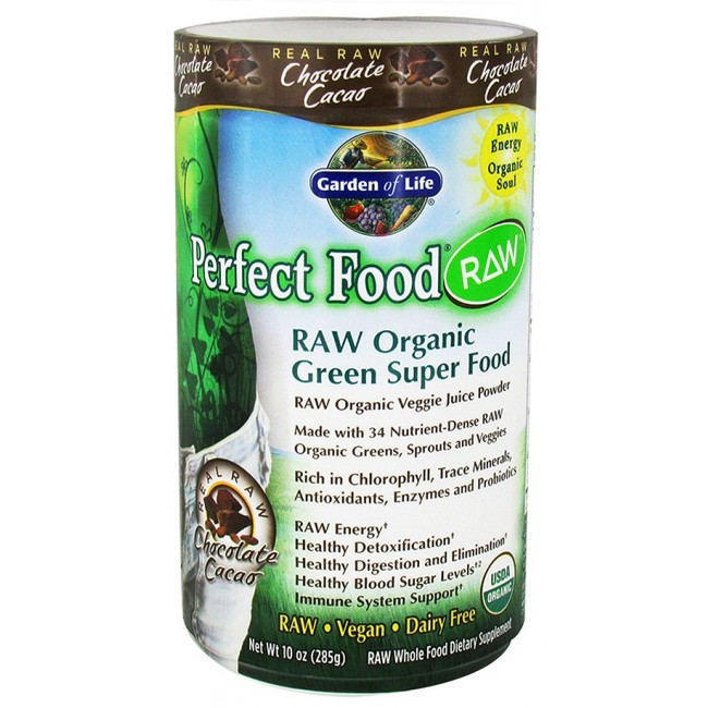 Garden Of Life Perfect Food Raw Organic Chocolate 10 Oz Powder The Natural