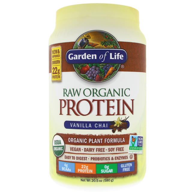 Garden Of Life Raw Organic Protein Vanilla Spiced Chai 20 5 Oz Powder The Natural