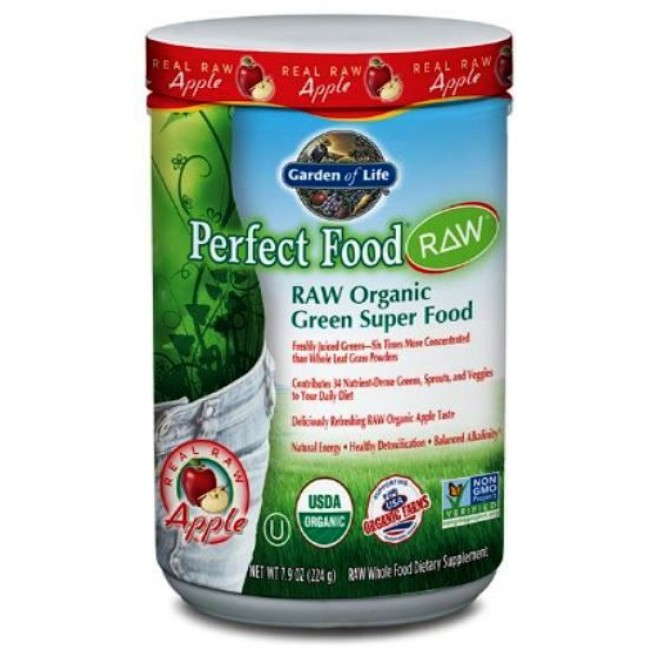 Garden of Life, Perfect Food RAW Organic (Apple) 224 g Powder -The ...
