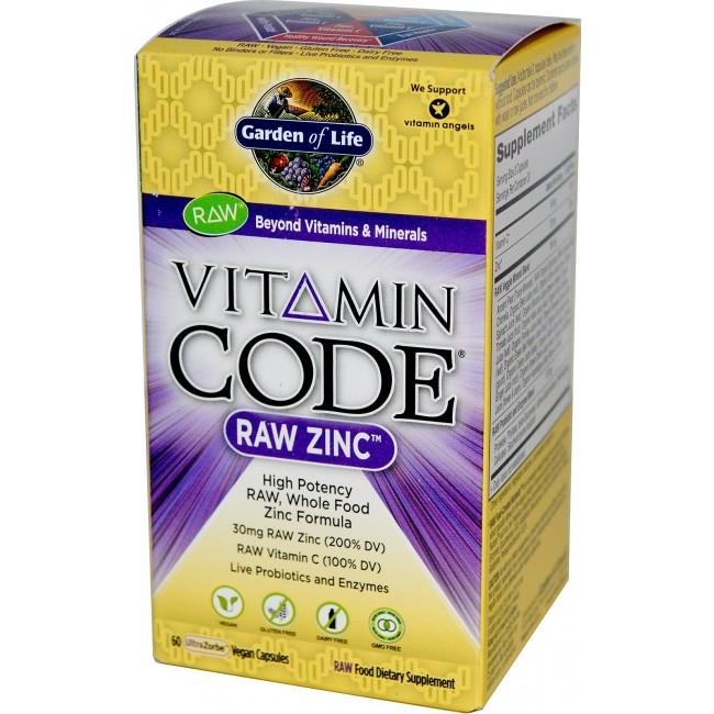 Garden of life vitamin code raw zinc 60 vegan capsules - Garden of life raw meal weight loss plan ...