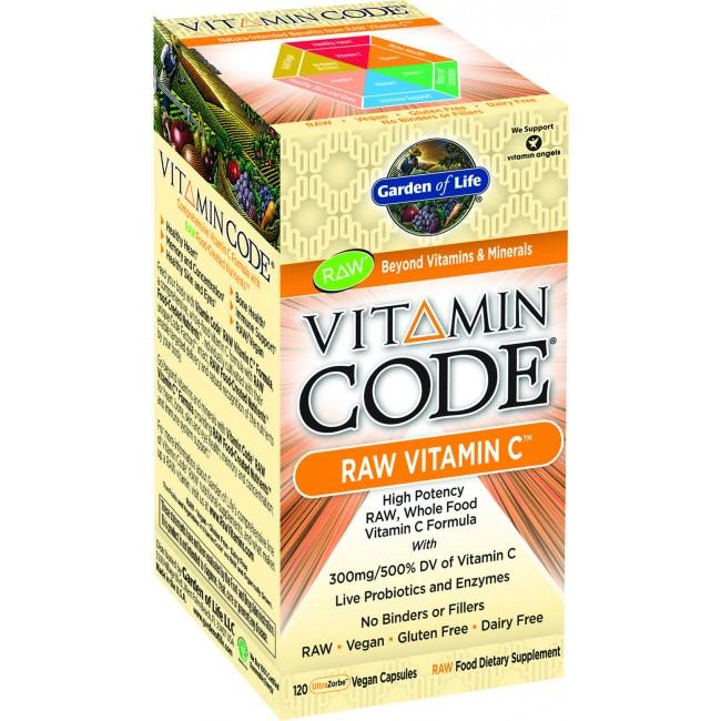 Garden Of Life Vitamin Code Raw Vitamin C 120 Vegan Capsules The Natural