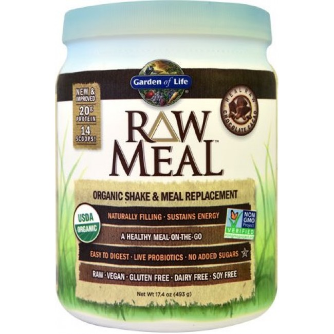 Garden Of Life Raw Meal 17 4 Oz 493 G Powder Chocolate The Natural