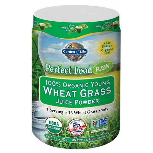 Garden Of Life Perfect Food Raw Wheat Grass 120 G Powder The Natural