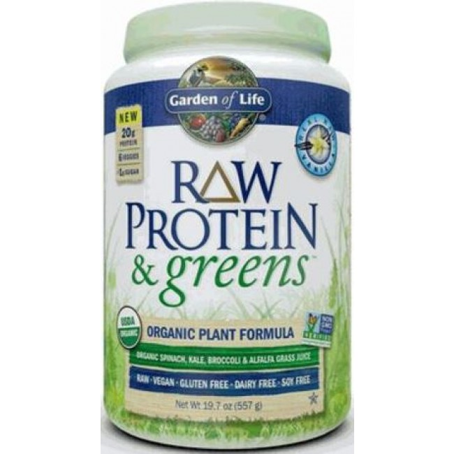 Garden Of Life Protein Greens 557 G Powder Vanilla The Natural