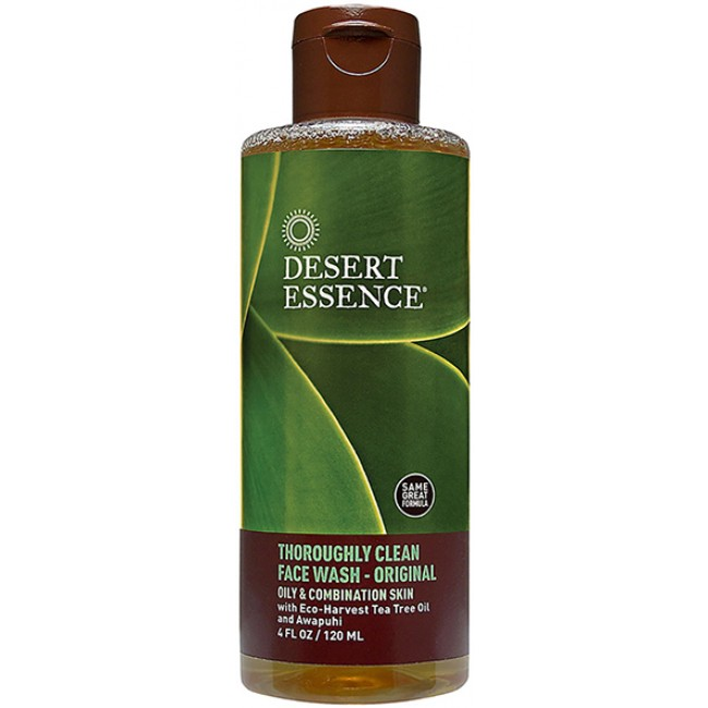 Desert Essence Thoroughly Clean Face Wash Original 4 Oz
