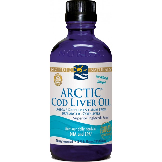 Nordic naturals arctic cod liver oil 8 oz liquid for Nordic naturals fish oil liquid