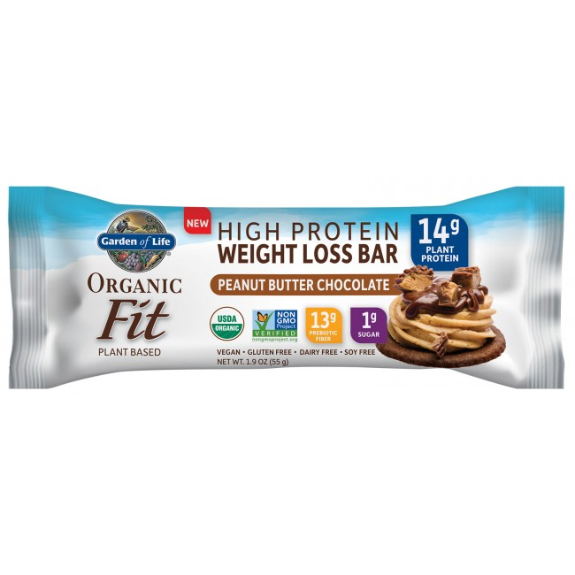 garden of life raw organic fit high protein weight loss bar 12 bars peanut butter - Garden Of Life Raw Fit