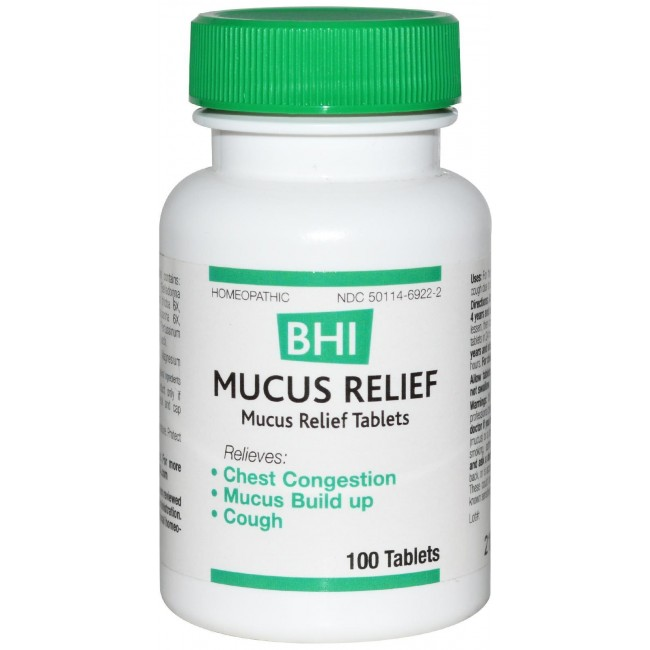 Heel, Mucus Relief 100 Tablets -The Natural