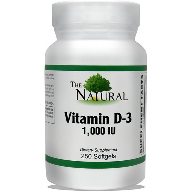 The Natural Vitamin D 3 1000 Iu 250 Softgels The Natural