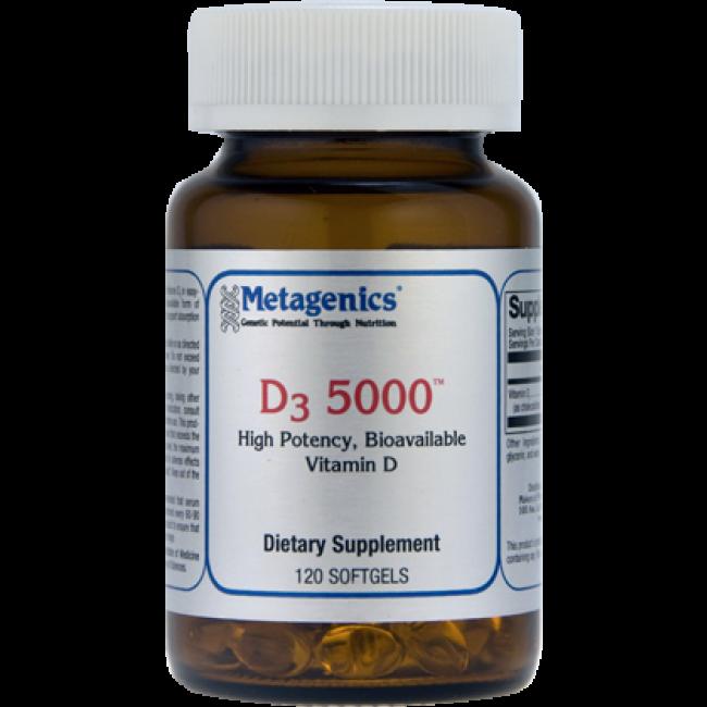 Metagenics D3 5000 120 Softgels The Natural