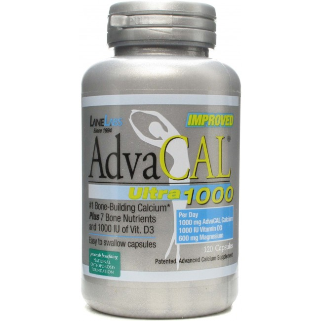 Lane Labs Advacal Ultra 1000 120 Gelatin Capsules The