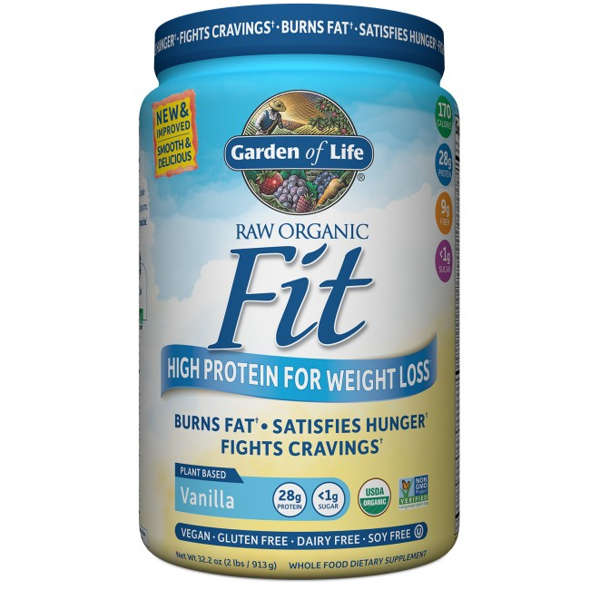 Garden Of Life Raw Organic Fit 32 2 Oz Powder Vanilla The Natural