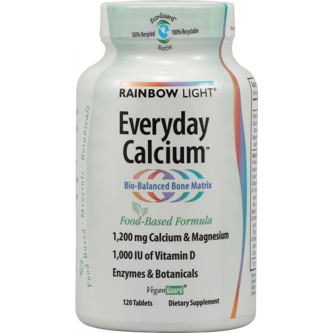 Rainbow Light Everyday Calcium 120 Tablets The Natural